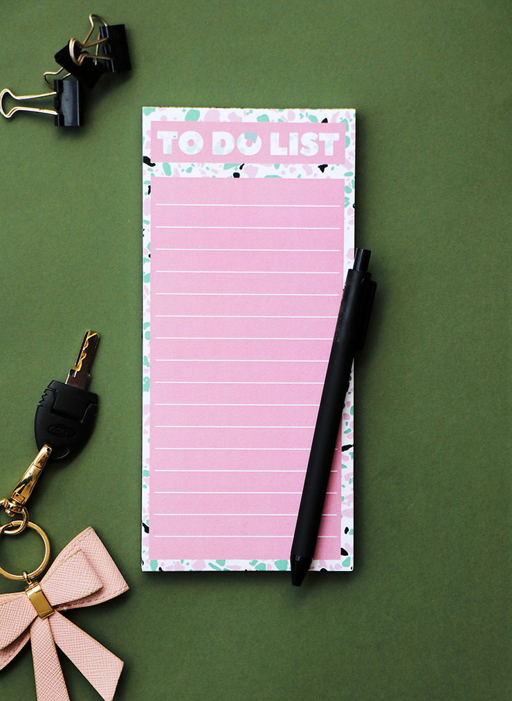 Terrazzo Magnetic To Do List | Stationery by The Craftables