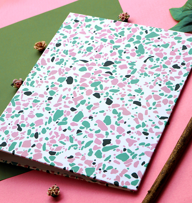 Terrazzo Ring Folder | Stationery by The Craftables