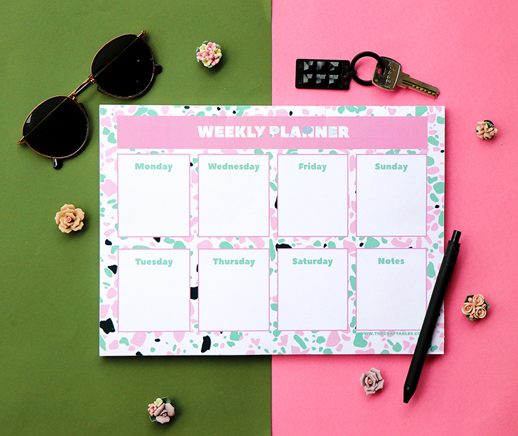 Terrazzo Weekly Planner } Stationery by The Craftables