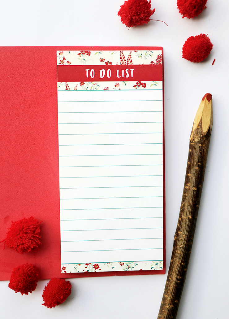 Wallflower Stationery Set   Rose Magnetic To Do List   The Craftables Stationery