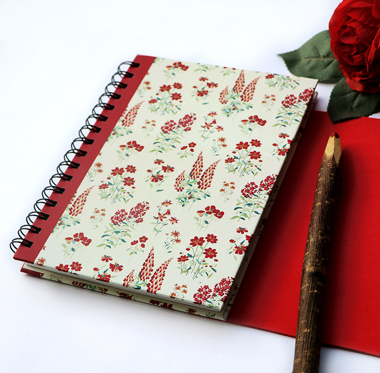 Wallflower Stationery Set | Rose Spiralbound Notebook | The Craftables Stationery