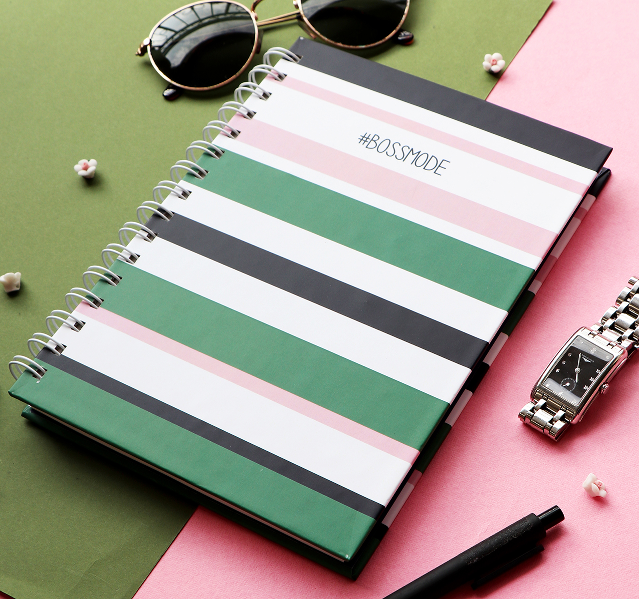 Bossmode Spiralbound Notebook | The Craftables Stationery