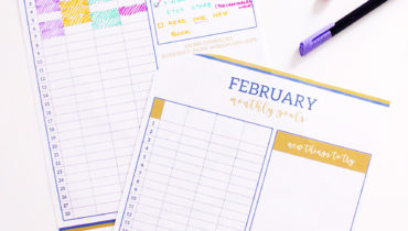 February goals + Irises + Monthly Printable!