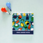 Alien Space Ranger Mini Notepad by The Craftables | Personalised Stationery Sets for gifting