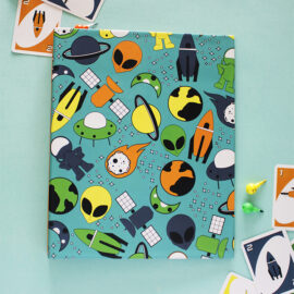 Alien Space Ranger Ring Folder | Customised stationery for kids by The Craftables