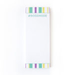 Bossmode Bookmark Listpad _ Personalised Mini notepads _ The Craftables stationery