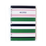 Bossmode Notebooks _ Spiralbound Stripes _ Customsied Stationery by The Craftables