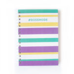 Bossmode Stationery Set _ Stripes colourful Notebooks _ The Craftables Personalised Stationery sets