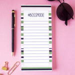 Bossmode To Do Lists _ Magnetic notepads _ Magnetic Grocery Lists by The Craftables