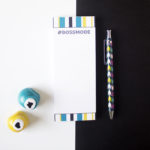 Bossmode bookmark Listpad _ Portable notepad _ Gifting stationery _ Mini Notebook cover by The Craftables