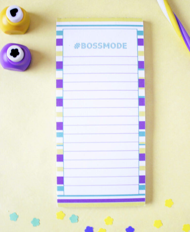 Bossmode personalized list pads _ Custom designs by The Craftables