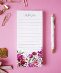 Bouquet Magnetic To Do Lists _ Cotton _ Personalized Notepads by The Craftables