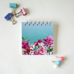 Bouquet Mini Notepad | Turquoise | Floral small notepads by The Craftables