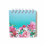 Bouquet Mini Notepad _ Turquoise plain pages _ Cute small notepads _ The Craftables