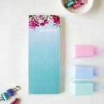 Bouquet Mini Notepad and bookmark listpads _ The Craftables personalised stationery
