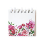 Bouquet Mini Notepad in cotton _ Floral stationery designs by The Craftables