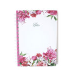 Bouquet Spiralbound notebook | Floral journals by The Craftables | Cotton
