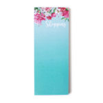 Bouquet Turquoise Bookmark Listpad _ Customised stationery by The Craftables