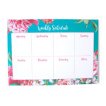 Bouquet Weekly Planners _ 7 day organisers for the year _ Cute stationery by The Craftables