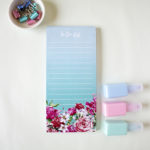 Bouquet magnetic to do list _ Turquoise ombre _ The Craftables stationery