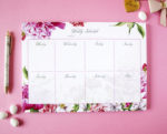 Bouquet weekly planner _ Customised organisers by The Craftables _ Cotton