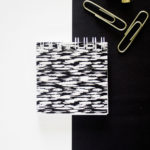 Brushstrokes Ebony Mini Notepad _ Letter paper, envelopes, paper goods customised by The Craftables