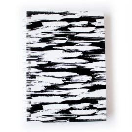 Brushstrokes Ebony Notebook _ Customised stationery sets by The Craftables