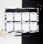 Brushstrokes Ebony Weekly Planner _ Weekly Organizer by The Craftables