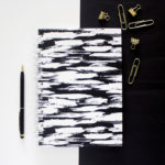 Brushstrokes Ebony _ Custom Spiral Notebooks by The Craftables