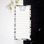 Brushstrokes Ebony _ Magnetic To Do List _ Personalised stationery by The Craftables