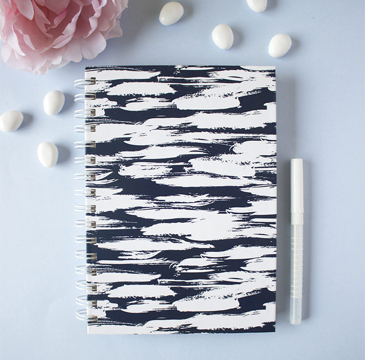 Brushstrokes Notebook _ Harbound and spiralbound journals _ Customised solutions by The Craftables