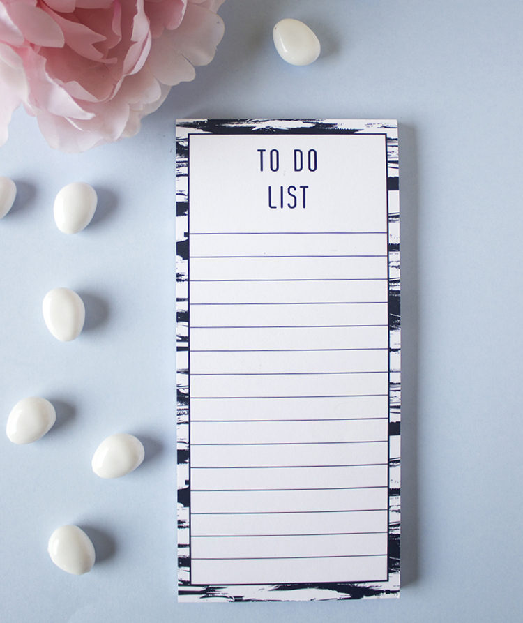 Brushstrokes To Do List _ Magnetic Listpads _ Order online by The Craftables