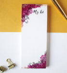 Ever After Bookmark Listpad _ Firework line art with watercolours _ Floral Stationery Designs by The Craftables