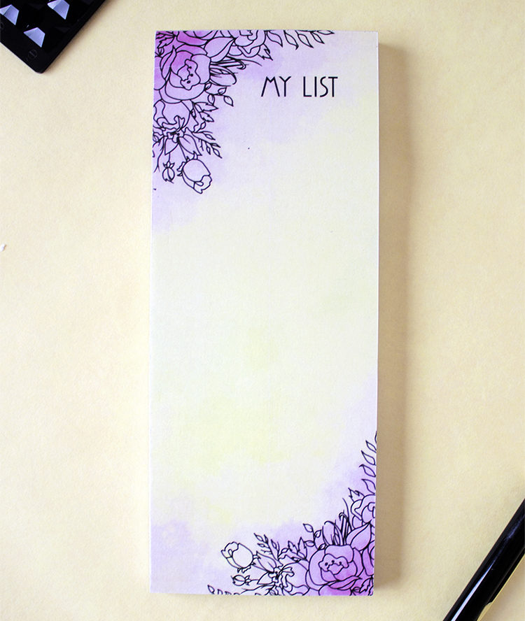 Ever After Bookmark Listpad _ Line art Watercolor design _ The Craftables Wedding Stationery