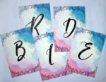 Ever After | Bride games | Party game idea | Pastel watercolor flowers | letter scramble game | Running game ideas | The Craftables