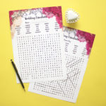 Ever After Fireworks | Wedding word search game idea | paper printables family word games | The Craftables