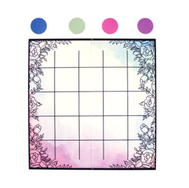 Ever After Pastels Watercolor Knots and crosses | Wedding Games | Board games by The Craftables