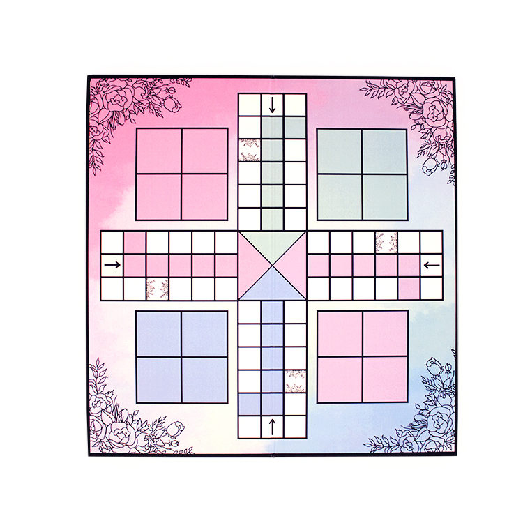 Ever After Pastels Watercolor Ludo | Wedding Games | Board games by The Craftables