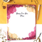 Ever After Ring Folder _ Firework Watercolour Floral line art _ Customised wedding binders by The Craftables