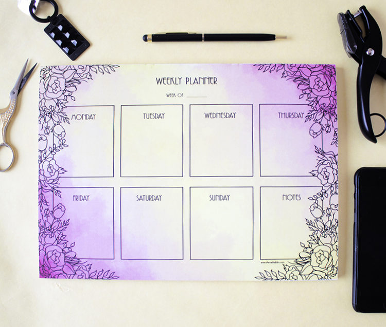 Ever After Weekly Planner _ 7 Day Organisers by The Craftables