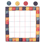 Game On Apricot | Customised Tic Tac Toe | Game night knots and crosses for 4 people by The Craftables | Board games