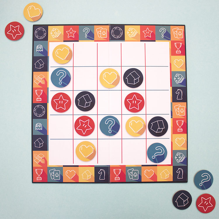 Game On Apricot | Knots and crosses board game | buy board games for kids | Mind and puzzle games | The Craftables