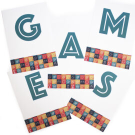 Game On Apricot | games night printables | GAMES | party games for 10 people | Paper running games by The Craftables