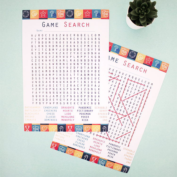Game On Apricot | hidden word puzzles | Game night Printables | buy word search game | The Craftables