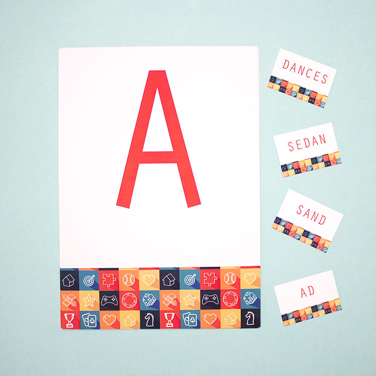 Game On Apricot   word scramble puzzle   group running games   word activity for kids   The Craftables