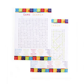 Game On Lime | games word search | printable paper games for parties | The Craftables