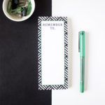 Hashtag Emerald Bookmark Listpad _ Custom stationery for office by The Craftables