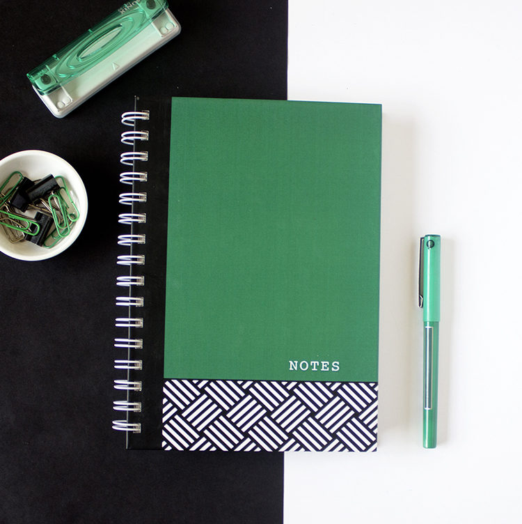 Hashtag Emerald Notebook _ Bespoke office stationery by The Craftables