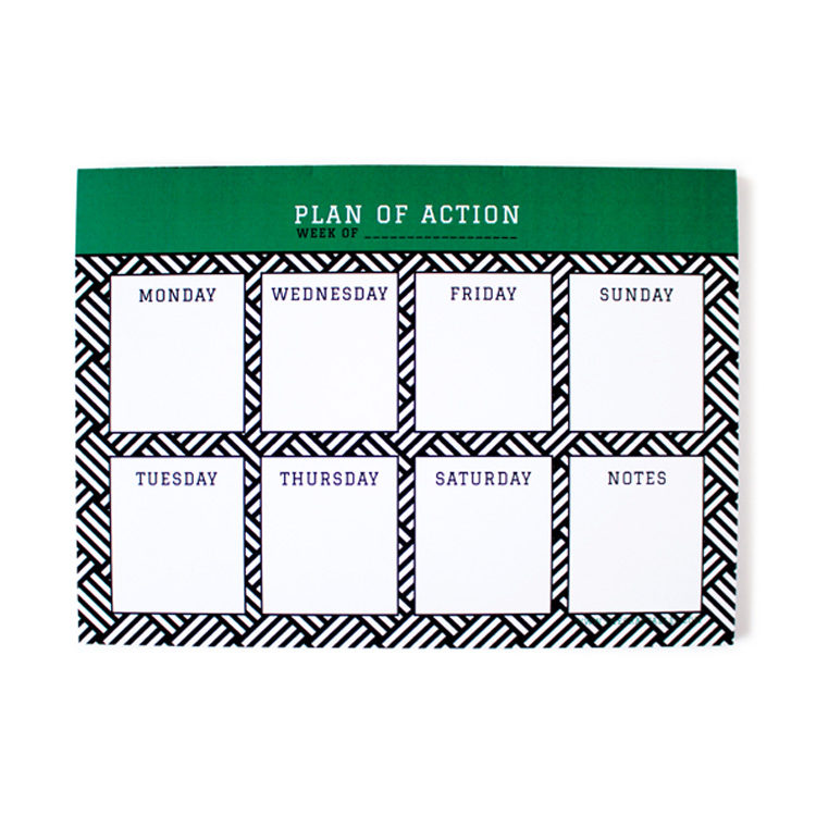 Hashtag Emerald Weekly Planner _ personalised stationery by The Craftables