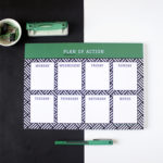 Hashtag Emerald Weekly organizers and planners by The Craftables